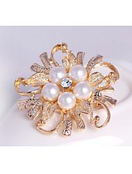 נשים ´נערות תפס לשיער סגנון פרח פנינה קריסטל סגסוגת תכשיטים ל חתונה Party אירוע מיוחד יומי