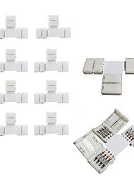 10ks balení t tvar bezvadřičný přiložit 4vodičový vodičový páskový konektor pro rychlé rozdělovací připojení šířky 10mm 5050 rgb ohebné