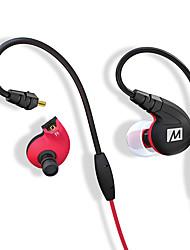 Med-audio m7p professionele oor sportieve hoofdtelefoon ipx5 waterdichte zweetzone met draadregeling