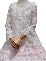 Blouse/Shirt Sweet Lolita Cosplay Lolita Dress White Flower Long Sleeve For