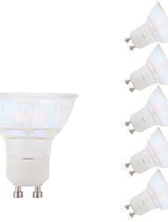 5.5W GU10 LED-kohdevalaisimet MR16 1 COB 450 lm Lämmin valkoinen AC 100-240 V 6 kpl