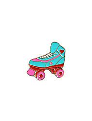 Fashion Trendy Cute  Enamel Roller Skates Metal Brooch