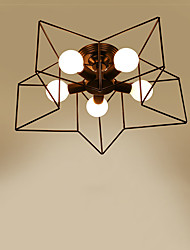 Flush Mount ,  Rustic/Lodge Electroplated Feature for LED Metal Living Room Bedroom Dining Room Study Room/Office