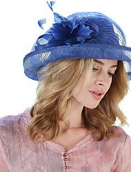 Women's Linen Bowler/Cloche Hat Bucket Hat,Vintage Cute Party Patchwork Spring Summer Fall