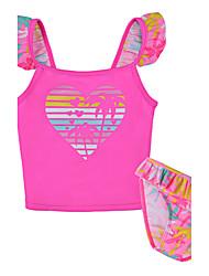 Girls' Floral Floral Swimwear,Polyester Nylon