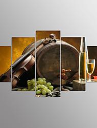 Pingoitetut kanvasprintit Food Moderni,5 paneeli Kanvas Mikä tahansa muoto Tulosta Art Wall Decor For Kodinsisustus