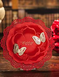 Personalizado Dobrado no Topo Convites de casamentoEnvelope Etiqueta do envelope Fan programa O menu do casamento Cartões de convite