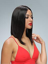 suorat hiukset bob peruukit Nyörilliset Brasilian neitsyt hiuksista lyhyt bob peruukit kanssa vauvan hiukset 10 '' - 14''full Nyörilliset