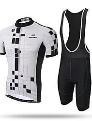 XINTOWN Camisa com Bermuda Bretelle Homens Manga Curta Moto Tights Bib Camisa/Roupas Para EsporteSecagem Rápida Zíper Frontal Respirável