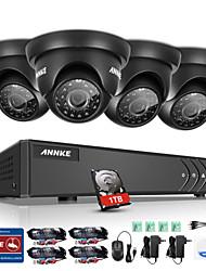 Annke 4ch 720p HD מצלמת וידאו 4 ב 1 1080p dvr צג p2p בחוץ מקורה מקורה מזג אוויר 1tb גישה מרחוק