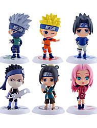 Anime Toimintahahmot Innoittamana Naruto Naruto Uzumaki PVC 7*7*6.5 CM Malli lelut Doll Toy