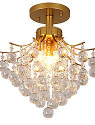 צמודי תקרה ,  מודרני / חדיש מסורתי/ קלאסי וינטאג' רטרו גס צביעה מאפיין for קריסטל LED מתכת חדר שינה כניסה חדר משחקים מסדרון