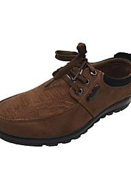 Oxfordské-Personalizované materiály-Pohodlné Novinky lehké Soles Společenské boty-Pánské--Outdoor Běžné Atletika Work & Safety-Plochá