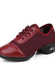 Sapatos de Dança(Branco Preto Vermelho Escuro) -Feminino-Não Personalizável-Tênis de Dança