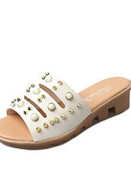 נשים-סנדלים-דמוי עור-נעלי בובה (מרי ג'יין)--שטח שמלה יומיומי-מדרס מחולק