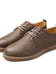 Oxfords-Læder-Komfort Lysende såler-Herrer--Bryllup Kontor Fest/aften-Flad hæl