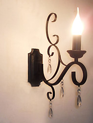 Crystal Candle Lamp Iron Creative Personality Corridor Staircase Decoration Bedside Lamp Wall Lamp