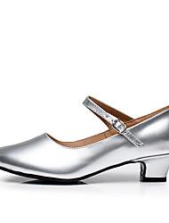 Sapatos de Dança(Dourado Preto Prata Vermelho Escuro) -Feminino-Personalizável-Tênis de Dança