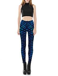 Dámské Sexy Roztomilé Mikro elastické Kalhoty chinos Kalhoty Vypasovaný Mid Rise Čistá barva Tisk