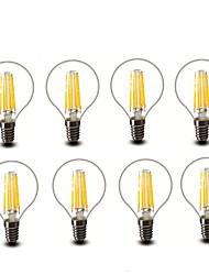 4.5W E14 E27 LED-hehkulamput G45 6 COB 600 lm Lämmin valkoinen Koristeltu AC220 AC230 AC240 V 8 kpl