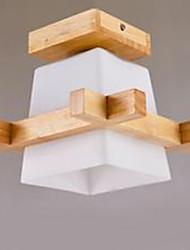 Lampe à LED chinoise moderne salon salon porche lampe de porche lampe art en bois
