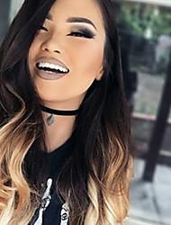 선염 T1b의 / 27분의 4 전체 레이스 인간의 머리카락은 여성을위한 느슨한 웨이브 130 % 밀도 페루 처녀 머리 글루리스 레이스 가발 가발