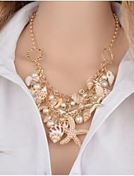 Dame Piger´ Kort halskæde Halskædevedhæng Erklæring Halskæder Imiteret Perle Imiteret Diamant Legering Unikt design Imiteret Perle Tyrkisk