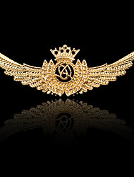 Women's Boys´ Other Brooches Euramerican Hip-Hop Personalized Rock Gold Plated Alloy Crown Wings / Feather Bronze Silver Gold Jewelry For