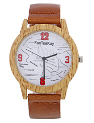 Men Bamboo Wood Watches Men and Women Quartz Clock Fashion Casual Leather Strap Wrist Watch Male Relogio