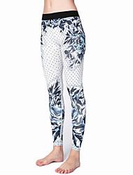 Jóga kalhoty Cyklistické kalhoty Legíny Prodyšné Rychleschnoucí Přírodní Vysoká pružnost Sportovní oblečení DámskéJóga Pilates Fitness