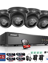 Annke® 4ch 4pcs 720p HD וידאו 4 ב 1 dvr הבית מעקב מזג אוויר אבטחה מערכת 1tb עם גישה מרחוק