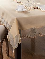 obdélníkový Vyšívané Ubrusy , Směs polybavlny MateriálSvatební Party Dekorace Svatební hostiny Večeře Vánoční výzdoba Favor Tabulka