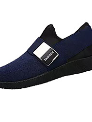 Men's Loafers & Slip-Ons Spring Fall Comfort Cowhide Casual Flat Heel Stitching Lace Light Brown Dark Blue Black Walking