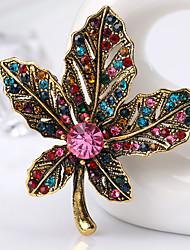 נשים תפס לשיער קריסטל ריינסטון עיצוב מיוחד אופנתי אבן יקרה Leaf Shape קשת תכשיטים ל חתונה Party יומי