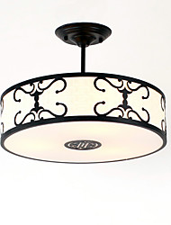 Flush Mount ,  Modern/Contemporary Traditional/Classic Vintage Country Painting Feature for Mini Style MetalLiving Room Bedroom Dining