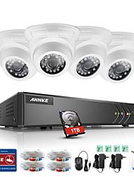אנקה 4ch 4ch 4pcs tvi 720p HD צג וידאו 4in1 dvr p2p tvi בחוץ מצלמה מקורה weatherproofproof מערכת מעקב 1tb