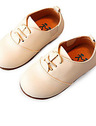Girls' Flats Spring Fall First Walkers Leatherette Outdoor Casual Low Heel Magic Tape Blushing Pink Brown Beige Black Walking