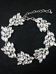 בגדי ריקוד נשים צמידי חפתים עבודת יד סגסוגת Leaf Shape כסף תכשיטים ל חתונה Party אירוע מיוחד יום הולדת ארוסים 1pc