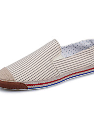 Men's Loafers & Slip-Ons Spring Fall Comfort Fabric Casual Blue Beige White