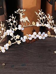 ריינסטון סגסוגת דמוי פנינה כיסוי ראש-חתונה אירוע מיוחד חוץ נזרים סרטי ראש סיכת שיער חלק 1