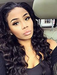 צבע טבעי פאות תחרה מלאות מי גל שיער אנושי פאות חזית תחרת שיער בתולה ברזילאיות אישה שחורה 100% פלומת שיער