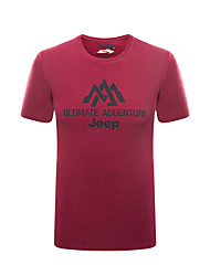 Men's T-shirt Fishing Breathable Summer Rose Red