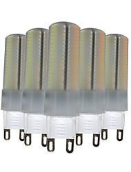 6W G9 Luminárias de LED  Duplo-Pin T 136 SMD 3014 500-600 lm Branco Quente Branco Natural Branco Regulável Decorativa V 5 pçs