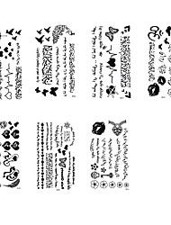 Tatuagens Adesivas Outros não tóxica Á Prova d'águaFeminino Masculino Adolescente Tatuagem Adesiva Tatuagens temporárias