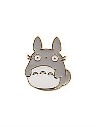 Fashion Trendy Cute Grey Enamel Totoro Metal Brooch