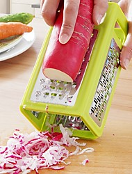 1Pcs   Kitchen Gadgets 4 In 1 Folding Box Grater Device Shredded Cheese Slicer Flat Coarse Fine Ribbon Etched Blades Cooking Tools