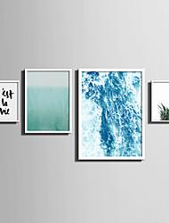 Krajina Květiny a rostliny Slova & Citáty Kanvas v rámu Set v rámu Wall Art,PVC Materiál Bílá Bez pasparty s rámem For Home dekoracerám