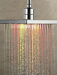 Contemporâneo Chuveiro Tipo Chuva Cromado Característica for  LED Efeito Chuva Ecológico , Lavar a cabeça