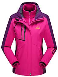 Mulheres Jaquetas 3-em-1 Jaqueta Feminina Jaqueta de Inverno Esqui Acampar e Caminhar Caça Esportes de Neve SnowboardImpermeável
