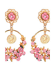 2017 Summer Bohemia Pastoral Small Fresh Vintage Round Flower Pendant Earrings For Women Weddings Popular Jewelry Accessories